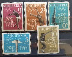 "Albanien 1962, ""Olympia"" Mi 657-61, MNH Postfrisch - Albania"