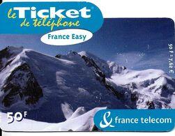 TICKET FRANCE TELECOM FRANCE EASY 50 F PAYSAGE MONTAGNES - Frankreich