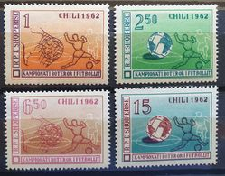 """Albanien 1962, """"Fußball"""" Mi 673-76, MNH Postfrisch - Albania"""
