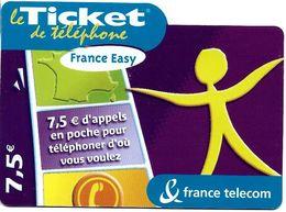 TICKET FRANCE TELECOM FRANCE EASY 7.5 €UROS - Frankreich