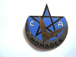 ANCIEN INSIGNE EMAILLE COMPAGNIES NOMADES D'ALGERIE FENNEC BRONZE G1231 DRAGO PARIS - Army