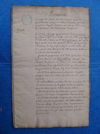 Mémoire Sur Billet D'honneur Entre Gentilhommes POITOU De La Rochette De La Gobinière Archives De L' Ordre De Malte 1740 - Manuscrits