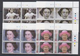 South Georgia & South Sandwich Islands 2006 80th Birthday Queen Elizabeth II 4v  Bl Of 4 (corner) ** Mnh (48517A) - Géorgie Du Sud