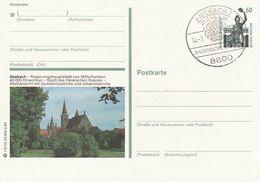"""Bundesrepublik Deutschland / 1989 / Bildpostkarte """"ANSBACH"""" Mit Bildgleichem Stempel (BX52) - [7] Federal Republic"""