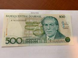 Brazil 500 Cruzados Uncirc. Banknote 1988 - Brasilien