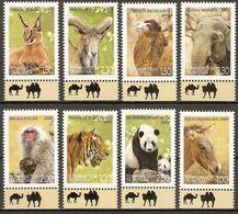 Tajikistan 2009 Mi.No. 531 - 538 Tadschikistan Animals Tiger Panda Elephant Monkeys 8 V   MNH** 15,00 € - Tadjikistan