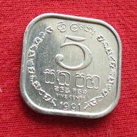 Sri Lanka 5 Cents 1991 KM# 139a - Sri Lanka