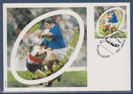 Carte Entier, Coupe Du Monde De Rugby, Premier Jour 11.09.1999 Type N°3280 Pour L'entier Et Timbre 3280 En 1er Jour - Ohne Zuordnung