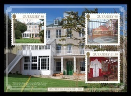 Guernsey 2019 Mih. 1741/43 (Bl.95) SEPAC. Old Residential Houses. Victor Hugo Hauteville House MNH ** - Guernesey