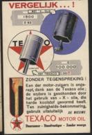 Automobile Mécanique TEXACO MOTOR OIL Huile. Utilisée 1932 - Cartes Postales