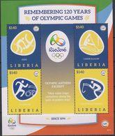 Olympics 2016 - Judo - Equestrian - LIBERIA - S/S MNH - Verano 2016: Rio De Janeiro