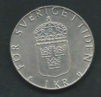 SUÈDE : 1 KRONA 1984 U   PIA227 02 - Schweden