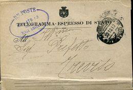 55820 Italia, Telegramma Espresso Di Stato 1919,da Min.terre Liberate Castelfranco A Prefetto Trerviso - Storia Postale