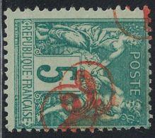SAGE - N°75 - CACHET CHIFFRE 2 DANS UN CERCLE EN ROUGE - JOUR DE L'AN - OU CACHET DE FACTEUR - RARE. - 1849-1876: Periodo Classico
