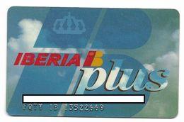 Iberia, Plus, Frequent Flyer Rewards Card, # Airlines-21 - Geldkarten (Ablauf Min. 10 Jahre)
