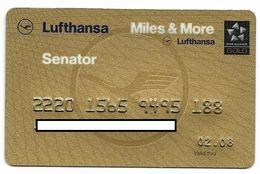 Lufthansa, Senator, Frequent Flyer Rewards Card, # Airlines-4a - Geldkarten (Ablauf Min. 10 Jahre)