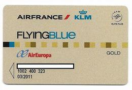 Air France / KLM / Air Europa, Frequent Flyer Rewards Card, # Airlines-15a - Geldkarten (Ablauf Min. 10 Jahre)