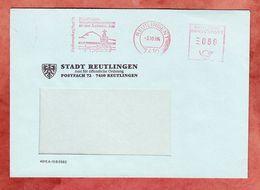 Brief, Absenderfreistempel, Stadtverwaltung Reutlingen, 80 Pfg, 1984 (95647) - Machine Stamps (ATM)