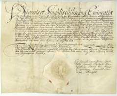 HAMBURG 8 Mai 1672 Pergament Bredenbeck Grape Lubbers Kramer Wibbers Latein - Manuscrits