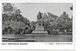Saïgon - Statue De Léon Gambetta - Chocolat Klaus N°9 - Viêt-Nam