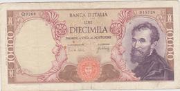 Italie - Billet De 10000 Lire - Michelangelo - 20 Mai 1966 - P97c - 10000 Liras