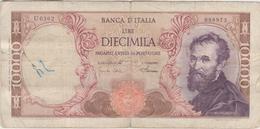 Italie - Billet De 10000 Lire - Michelangelo - 4 Janvier 1968 - P97d - 10000 Liras