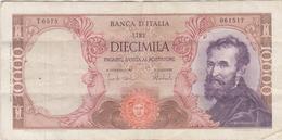 Italie - Billet De 10000 Lire - Michelangelo - 27 Novembre 1973 - P97f - 10000 Liras