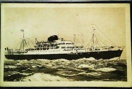 "Cpa - Bateau PAQUEBOT "" CALEDONIEN & TAHITIEN "" Polynesie ( Cruiser Ocean Steam Ship ) CMM Cie  Messagerie Maritimesger - Polynésie Française"