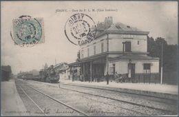Joigny , Train En Gare Du P.L.M. , Animée - Joigny