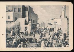 Photogravure MAROC --   Porte De Marrakech En 1916     ( Cliche Flandrin  ) Dim 11 Cm X 16 Cm - Photographie
