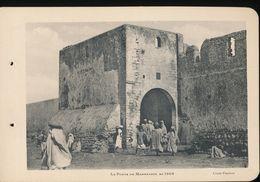 Photogravure MAROC --   Porte De Marrakech En 1905     ( Cliche Flandrin  ) Dim 11 Cm X 16 Cm - Photographie