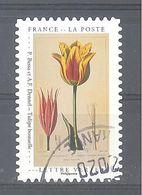 France Autoadhésif Oblitéré (Un Cabinet De Curiosités : Tulipe Bossuelle) (cachet Rond) - Oblitérés
