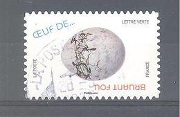 France Autoadhésif Oblitéré (Oeuf De ... Bruant Fou) (cachet Rond) - Oblitérés