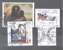 France Oblitérés : EUROPA Anciennes Routes Postales - Boris Vian - René Guy Cadou & N° 5333 (cachet Rond) - Oblitérés