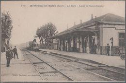 Montrond Les Bains , Train En Gare , Ligne De Saint Etienne , Animée - Francia