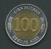 Equateur   Ecuador 100 Sucres 1997  Pia 22809 - Equateur