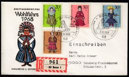 Germany  Bonn 1968 / Wohlfahrt Puppen Dolls Charity Stamps / FDC - Puppen