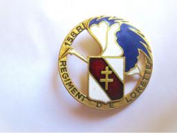 ANCIEN INSIGNE EMAILLE INFANTERIE 158° RI REGIMENT DE LORETTE DRAGO PARIS ETAT EXCELLENT - Army