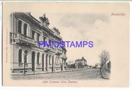 137194 URUGUAY MONTEVIDEO POCITOS STREET CALLE CRISTOBAL COLON POSTAL POSTCARD - Uruguay