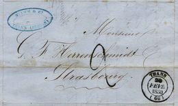 CD10 - Marque Postale -Ht Rhin  THANN  - Sans TP Cad. 20 FEV. 1850 -Taxe  Manuscrite  2 - TTB - Alsace- Lorraine - 1801-1848: Précurseurs XIX