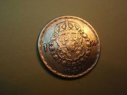 SUÈDE 1 Krona Gustave V 1945. Argent - Silver - Schweden