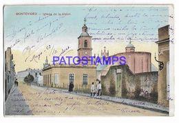 137199 URUGUAY MONTEVIDEO CHURCH IGLESIA DE LA UNION POSTAL POSTCARD - Uruguay