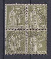 FRANCE Y&T N ° 284 A Bloc De 4 Avec Oblitération Aubigny Les Pothées Ardenne - 1932-39 Paz