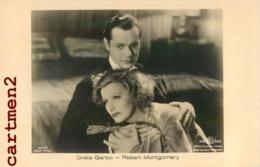 GRETA GARBO ROBERT MONTGOMERY CINEMA ACTEURS ACTORS FILM MOVIE - Attori