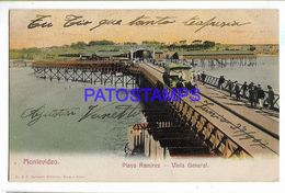 137204 URUGUAY MONTEVIDEO PLAYA RAMIREZ & TRANVIA TRAMWAY A HORSE VISTA GENERAL POSTAL POSTCARD - Uruguay
