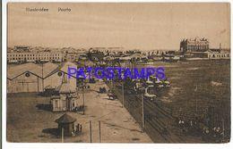 137208 URUGUAY MONTEVIDEO VISTA DEL PUERTO PORT RAILROAD & SHIP POSTAL POSTCARD - Uruguay