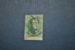 Belgique 1858 Léopold I Y&T 9 Défectueux - 1858-1862 Medaillen (9/12)