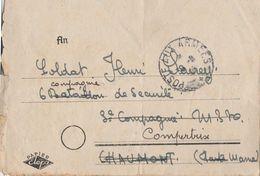 """Lettre FM 1945 / Support Allemand / CAD """"Poste Aux Armées""""/Pour Compertrix 51 /Déplore Attitude Jeunes Filles Du Village - Postmark Collection (Covers)"""