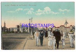 137211 URUGUAY MONTEVIDEO RAMBLA DE LOS POCITOS POSTAL POSTCARD - Uruguay