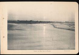 Photogravure MAROC --  Effet De Nuit Sur La Plage   ( Cliche Chelles )   Dim 11 Cm X 16 Cm - Photographie